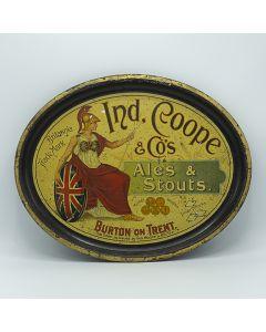 Ind Coope & Co Ltd Oval Black Backed Steel