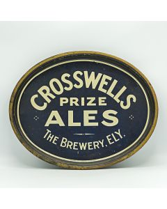 Crosswell's Cardiff Brewery Ltd Oval Black Backed Steel
