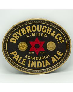 Drybrough & Co. Ltd Oval Black Backed Steel