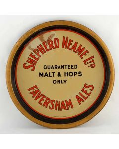 Shepherd Neame Ltd Round Black Backed Steel