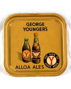 George Younger & Son Ltd Square Tin