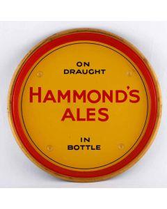 Hammond's Bradford Brewery Co. Ltd Round Black Backed Steel