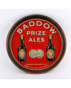 Baddow Brewery Co. Ltd Round Black Backed Steel
