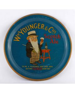 William Younger & Co Ltd Round Black Backed Steel