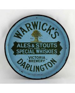 Warwick's Brewery Co Ltd Round Enamel
