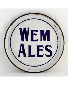 Shrewsbury & Wem Brewery Co Ltd Round Enamel