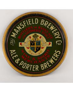 Mansfield Brewery Co Ltd Round Black Backed Steel