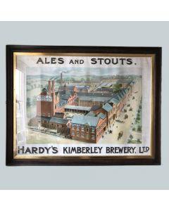 Hardy's Kimberley Brewery Ltd Showcard