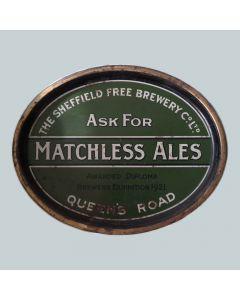 Sheffield Free Brewery Co Ltd Oval Black Backed Steel