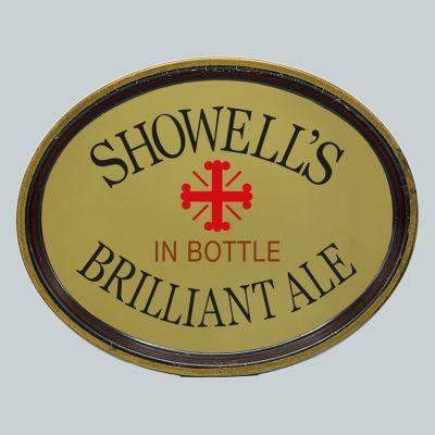 Showell's Brewery Co Ltd Oval Black Backed Steel