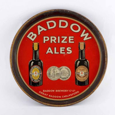 Baddow Brewery Co Ltd Round Black Backed Steel