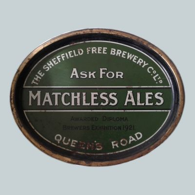 Sheffield Free Brewery Co Ltd Oval Black Backed Steel
