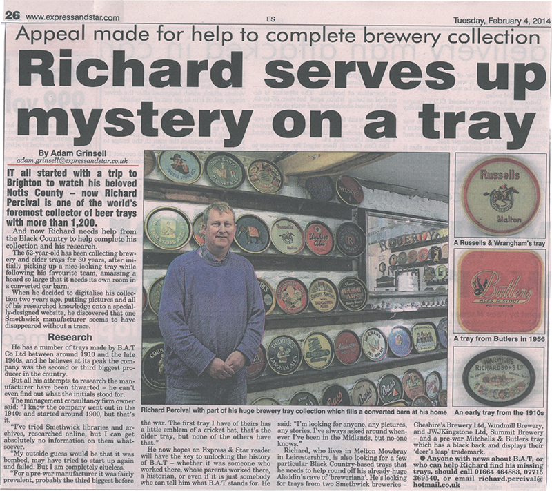 Two articles published by the Wolverhampton Express & Star
