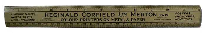 Reginald Corfield Ltd - Advertising Ruler